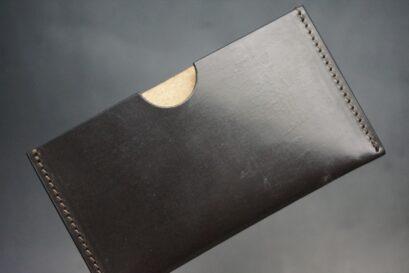 セドウィック社製ブライドルレザーのチョコ色のシンプル名刺入れ