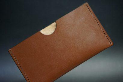 セドウィック社製ブライドルレザーのヘーゼルブラウン色のシンプル名刺入れ