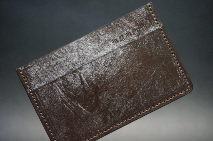 ベンズ部位のブライドルレザーのカードケース