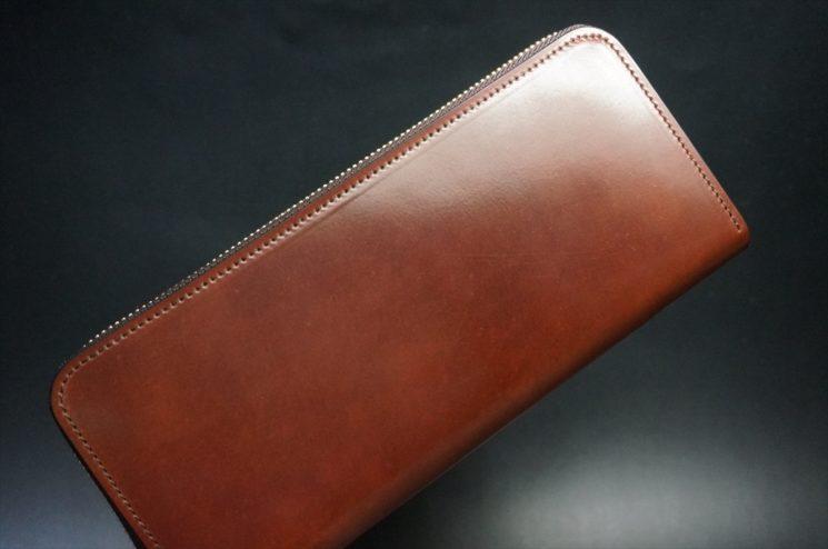 ホーウィン社製シェルコードバンの#2色のラウンドファスナー長財布