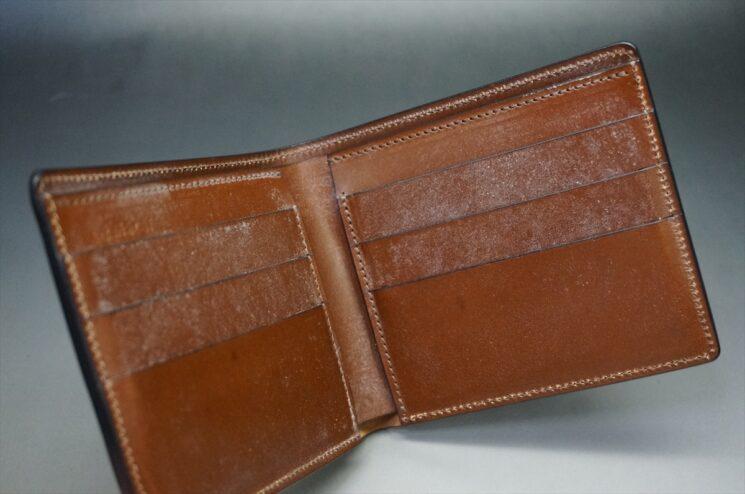 10か月使用した二つ折り財布の内側