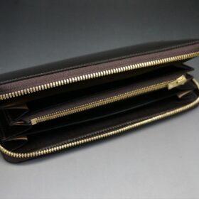 ラウンドファスナー長財布の内側