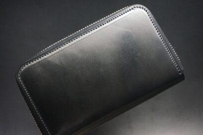 ホーウィン社製シェルコードバンのラウンドファスナー財布