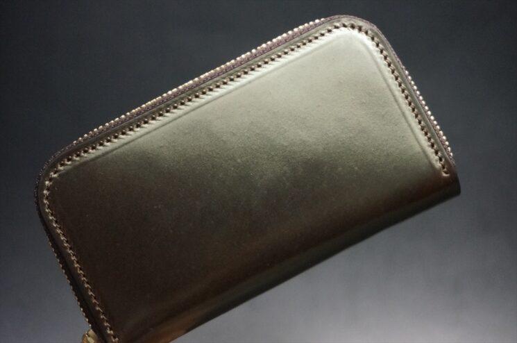 ホーウィンコードバンのダークコニャック色のミニ財布